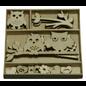 Objekten zum Dekorieren / objects for decorating Houten ornamentendoos, uil 30 delen