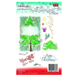 Polkadoodles  Sello, árbol de Navidad, Polkadoodles,