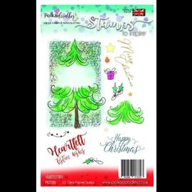 Polkadoodles  Timbre, arbre de Noël, Polkadoodles,