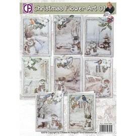 BASTELSETS / CRAFT KITS Craft SET, per 8 biglietti d'auguri, temi invernali e natalizi
