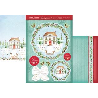 """Hunkydory Luxus Sets Hunkydory Luxe kaartensets, EXTRA uit de collectie """"Christmas Classics"""" + 4 dubbele kaarten + kralen en 3D-pads, voor het ontwerp van 4 kaarten!"""