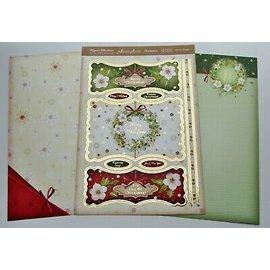 """Hunkydory Luxus Sets Conjuntos de tarjetas de lujo Hunkydory, EXTRA de la colección """"Christmas Classics"""" + 4 tarjetas dobles + cuentas y almohadillas 3D, ¡para el diseño de 4 tarjetas!"""