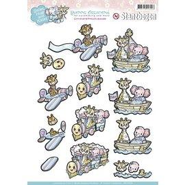 Yvonne Creations Feuille de perforation A4: thème bébé