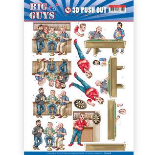 Yvonne Creations 3x 3D Pushout  A4  Bogen, Männer Motiven