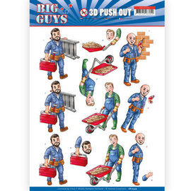 Yvonne Creations 3x 3D Pushout A4 sheet, men motifs