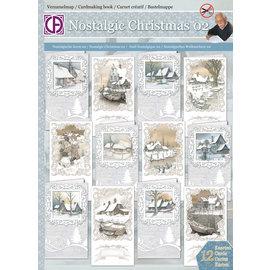 BASTELSETS / CRAFT KITS Superbe kit de bricolage pour 12 cartes d'hiver et de Noël nostalgiques!