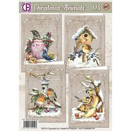 BASTELSETS / CRAFT KITS Håndværkssæt, kortsæt, til 4 smukke kort!