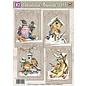BASTELSETS / CRAFT KITS Craft Kit, kaartenset, winterlandschappen, voor 4 prachtige kaarten! - Kopiëren