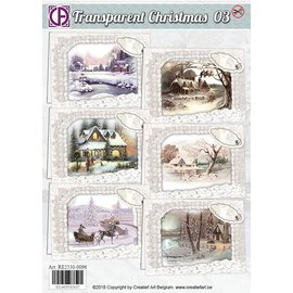 BASTELSETS / CRAFT KITS Fantastic craft kit, for 6 winter and Christmas cards
