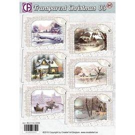 BASTELSETS / CRAFT KITS Fantastico kit artigianale, per 6 cartoline invernali e natalizie