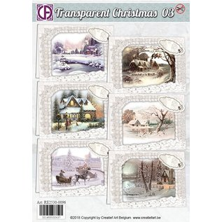 BASTELSETS / CRAFT KITS Beautiful package with landscapes printed on parchment paper