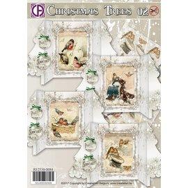 BASTELSETS / CRAFT KITS Traumhaft schönes Kartenset, zur Gestaltung von 4 Karten, mit einem Schönen Tief auf Leinenpapier.