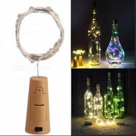 BASTELZUBEHÖR, WERKZEUG UND AUFBEWAHRUNG Éclairage en liège pour les bouteilles, avec des lumières LED blanc-jaune qui donnent beaucoup de lumière.
