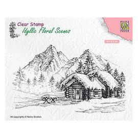 Nellie Snellen Timbre, format 140 x83 mm, paysage d'hiver