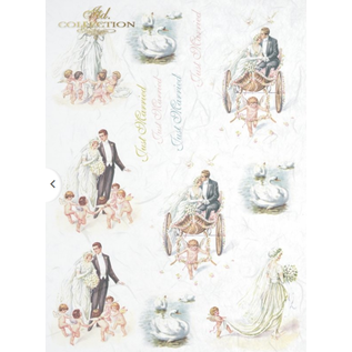 DECOUPAGE AND ACCESSOIRES Rice paper, decoupage. For designing on cards, kraft paper, cardboards, wood, glass, porcelain, MDF, polystyrene and many others.