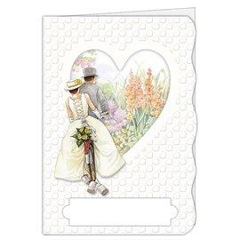 BASTELSETS / CRAFT KITS Håndværkssæt, kortsæt, til 4 smukke kort, tema: kærlighed, bryllup!