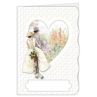 BASTELSETS / CRAFT KITS Craft kit, kaartenset, voor 4 prachtige kaarten, thema: liefde, bruiloft!