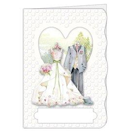 BASTELSETS / CRAFT KITS Kit artigianale, set di carte, per 4 bellissime carte, tema: amore, matrimonio!
