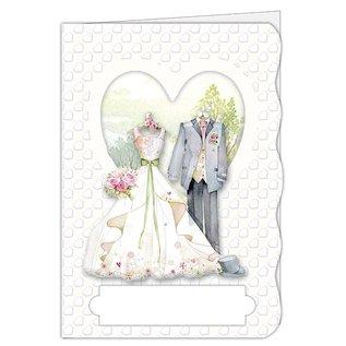 BASTELSETS / CRAFT KITS Craft kit, kortsett, for 4 vakre kort, tema: kjærlighet, bryllup!