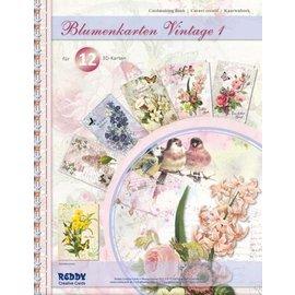 BASTELSETS / CRAFT KITS Kit artigianale, set di carte per 12 carte fiori. In varie occasioni!
