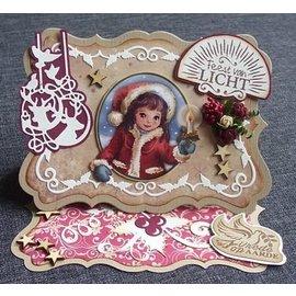 Bilder, 3D Bilder und ausgestanzte Teile usw... A4 Gestantzte Bilderbogen, wreath with candles