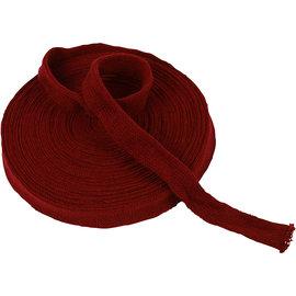 Embellishments / Verzierungen Tubo de tejido de punto, elección: B 22, 40 o 60 mm, rojo Navidad, artículos de medición, calidad fuerte y densa Para una gorra, patas, etc., por ejemplo, muñeca, duende, etc.