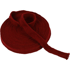 Embellishments / Verzierungen Tubo per maglieria, scelta: B 22, 40 o 60 mm, rosso Natale, metro, qualità forte e densa Per un berretto, gambe ecc. Per esempio bambola, leprechaun, ecc.