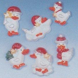 Modellieren Giessform, Weihnachtsgänse, 7-12cm, 6-tlg., Materialbedarf 400 g