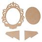 Holz, MDF, Pappe, Objekten zum Dekorieren MDF afbeeldingsframe, decoratief frame, barrock, voor schilderen, decoupage en nog veel meer