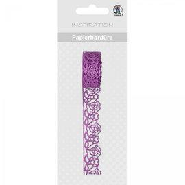 Embellishments / Verzierungen Bordure en papier autocollant effet dentelle!