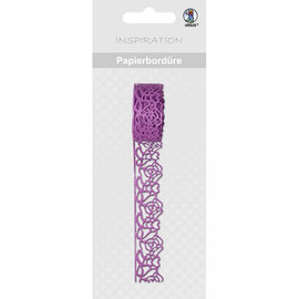 Embellishments / Verzierungen selvklæbende papir kant med blonder effekt!