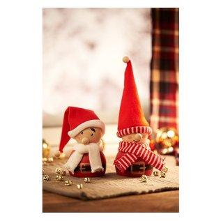 Embellishments / Verzierungen Tube tricoté, au choix: rayé gris, rouge ou gris-rouge, largeur 15 mm, rouge de Noël, mètre, qualité forte et dense Pour casquette, jambes, etc. Par exemple, poupée, leprechaun, etc.