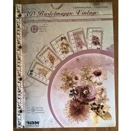 REDDY Carpeta artesanal tridimensional Tarjetas de flores vintage. ¡ÚLTIMO DISPONIBLE!