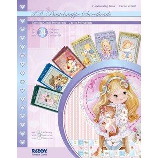 BASTELSETS / CRAFT KITS 3D kaarten Kuntselpaket, Sweetheads, voor 24 wenskaarten! LAATSTE BESCHIKBAAR!