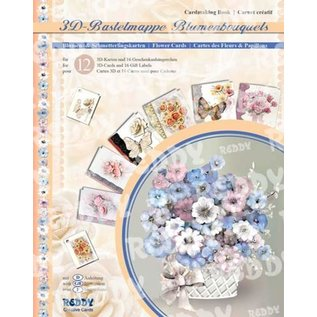 REDDY 3D-Knutsel Kaarten-SET, Vintage bloemkaarten. LAATSTE BESCHIKBAAR!