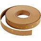 Karten und Scrapbooking Papier, Papier blöcke Striscia di carta in pelle / striscia intrecciata, L 15 mm, spessore: 0,55 mm, marrone chiaro, stampa oro, 9,5 m