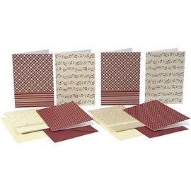 KARTEN und Zubehör / Cards 16 kort med konvolutt, kortstørrelse 10,5x15 cm, 16 assortert