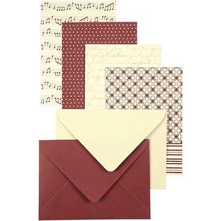 KARTEN und Zubehör / Cards 16 cards with envelope, card size 10.5x15 cm, 16 assorted
