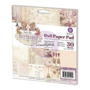 Prima Marketing und Petaloo Designer paper, 15.5 x 15.5 cm, Butterfly by Jodee Lee