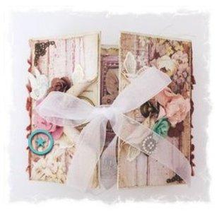 Prima Marketing und Petaloo papierblok, 15,5 x 15,5 cm, de vlinder door Jodee Lee