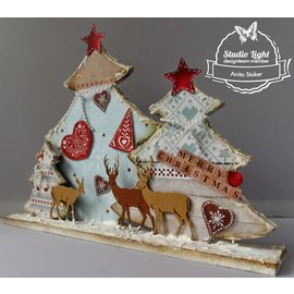 Objekten zum Dekorieren / objects for decorating Alberi di MDF Bastelset Natale