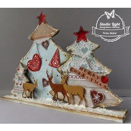 Objekten zum Dekorieren / objects for decorating Weihnachtsdeko basteln  für Ihr Zuhause. MDF Bastelset Weihnachtsbäumen