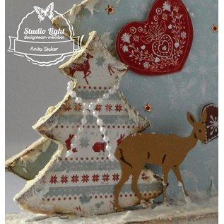 Objekten zum Dekorieren / objects for decorating MDF Bastelset kerstbomen