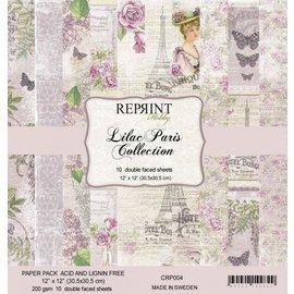 Stamperia und Florella Designpapier, kaart- en plakboekpapier, 30,5 x 30,5 cm, Lilac Paris-collectie.