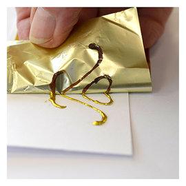 BASTELZUBEHÖR, WERKZEUG UND AUFBEWAHRUNG Lámina con efecto metálico, 200 x 6.4cm, en selección: plata, cobre u oro
