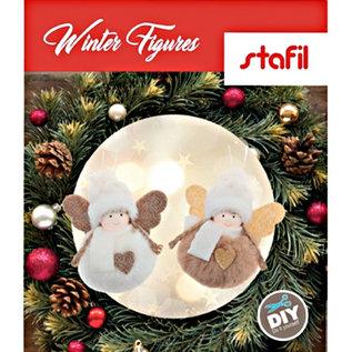 BASTELSETS / CRAFT KITS Bastelset: søte vinterfigurer, vinterpynt, julepynt, dekorasjon i utvalg