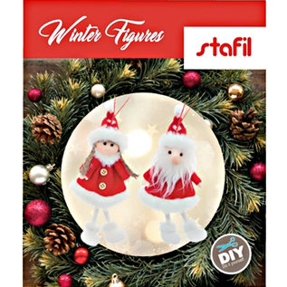 BASTELSETS / CRAFT KITS Bastelset: cute winter figures, winter decoration, Christmas decorations, decoration in selection