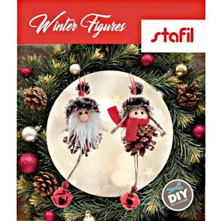 BASTELSETS / CRAFT KITS Bastelset: niedliche Winter Figuren, Winter Deko, Weihnachtsschmuck, Dekoration in Auswahl