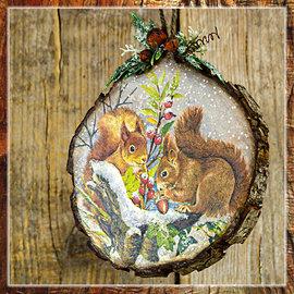 BASTELSETS / CRAFT KITS Kit de artesanía: decoración con discos de madera.