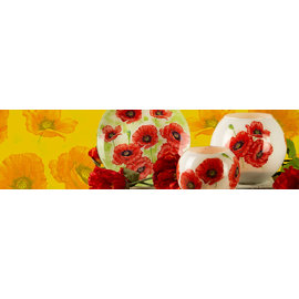 BASTELSETS / CRAFT KITS Craft kit: decoration with happy and colorful poppies.
